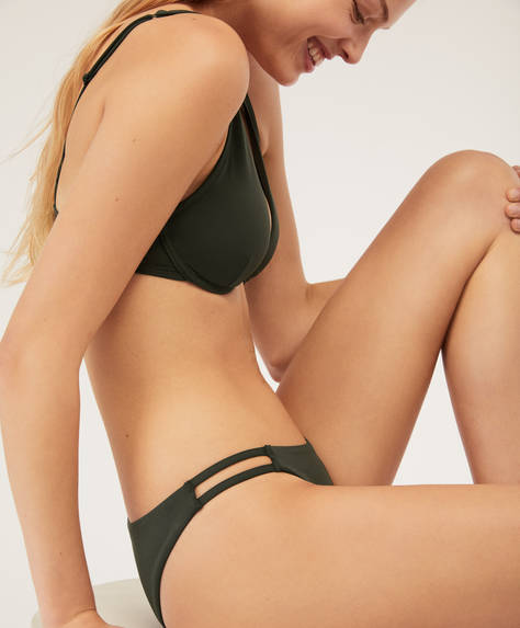 Brazilian bikini briefs with strap detail