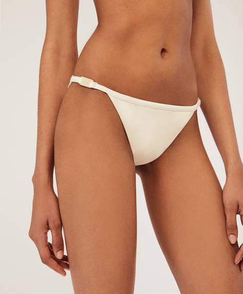 Vanillefarbener Brazilian-Bikinislip