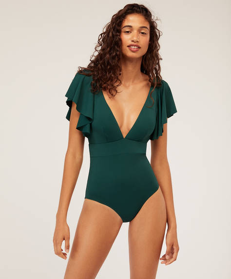Two ruffle triangle swimsuit