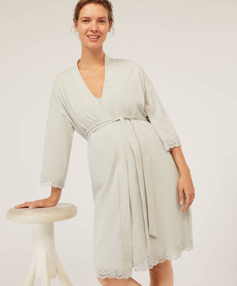 Cotton maternity bath robe