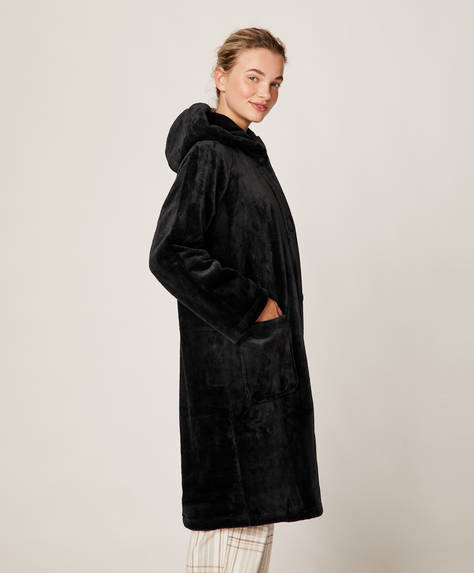 Oversize fleece bath robe