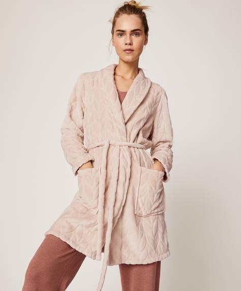 Solid colour wheat bath robe