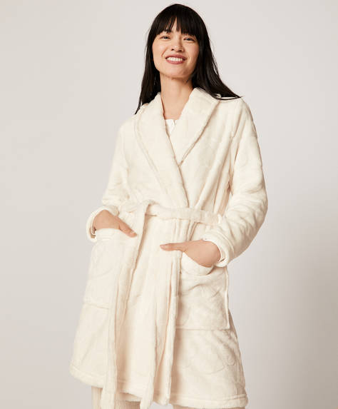 Heart structured bath robe