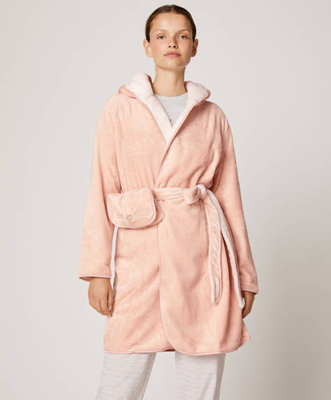 Reversible cat bath robe