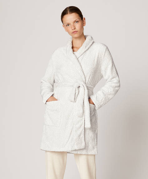 Animal print bath robe