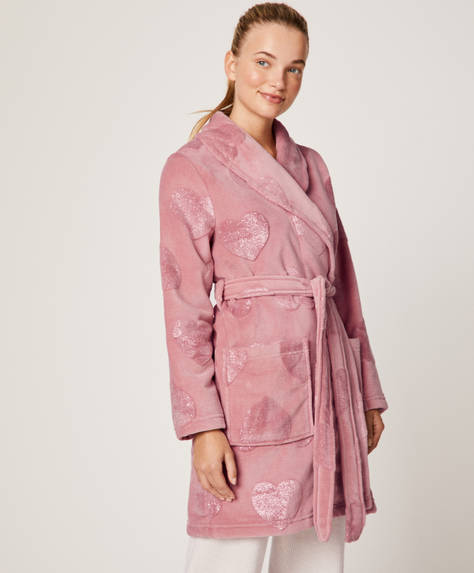 Glitter heart bath robe