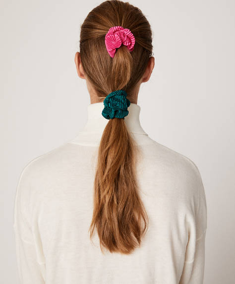 Pack of 2 pleated scrunchies