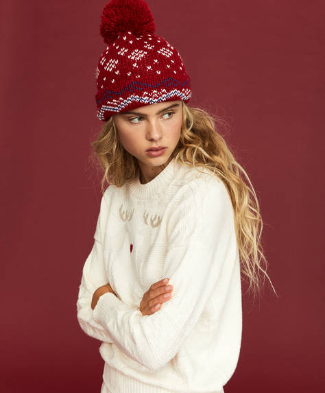 Jacquard knit hat