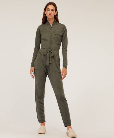 Lang jumpsuit i strik