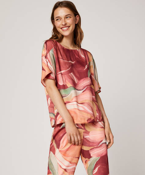 Maxi-floral T-shirt