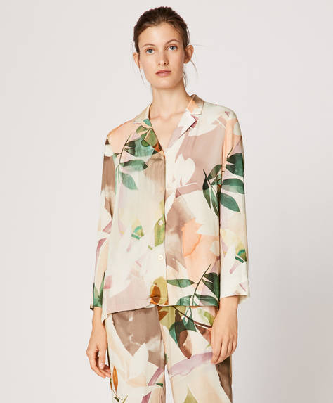 Watercolour leaf shirt
