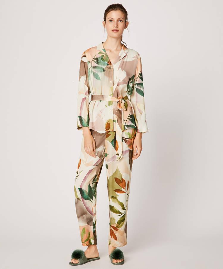 Camisa hojas acuarela - 2
