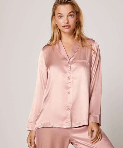Μονόχρωμο ροζ πουκάμισο