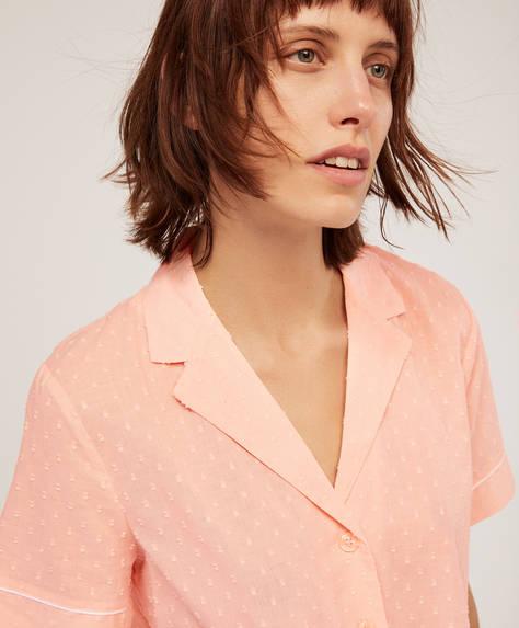 Βαμβακερό ροζ πουκάμισο