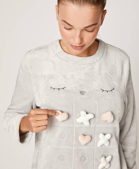 Grey fleece sweatshirt