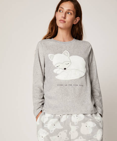 White fox sweatshirt