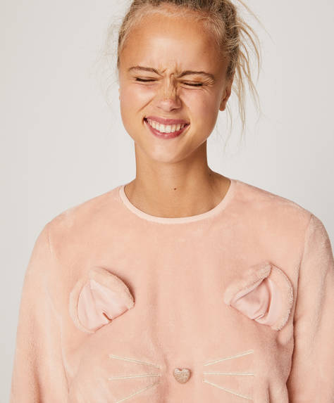Pink mouse sweatshirt