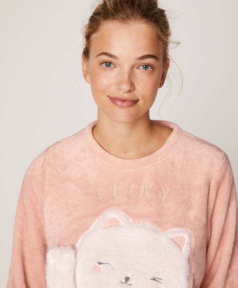 Sweatshirt lucky cat