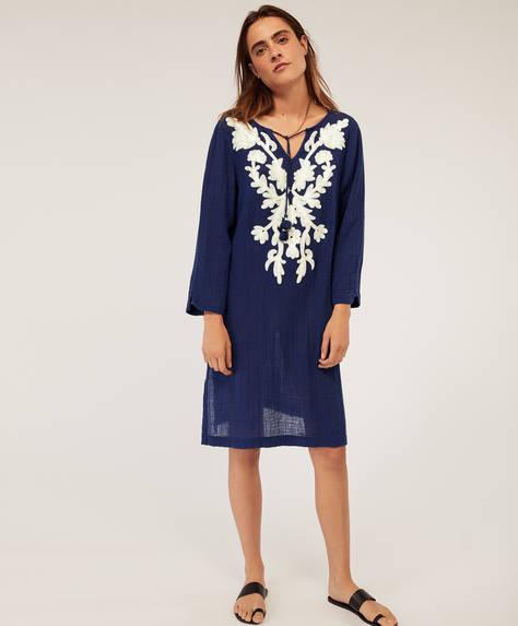 Floral embroidered midi tunic