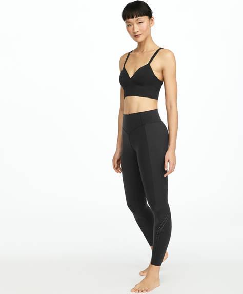 Black compression tape leggings