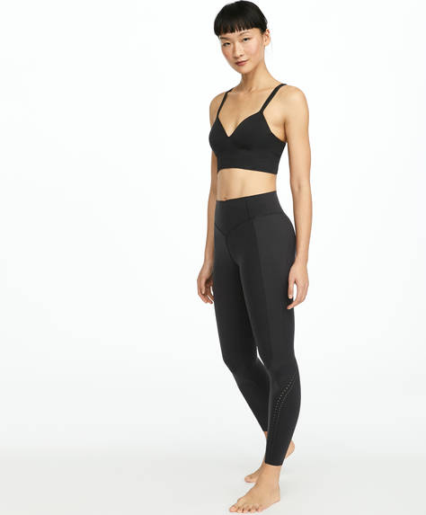 Black compression tape leggings
