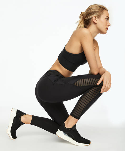 Biker leggings met panels