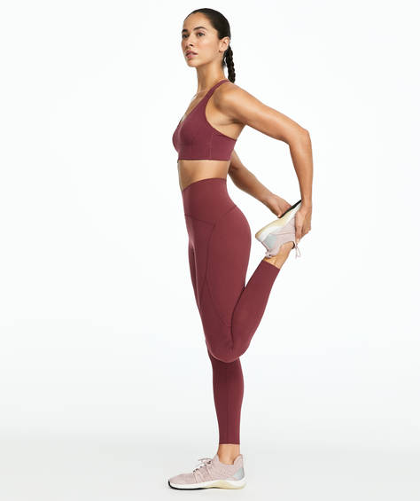 Legging gainant bordeaux