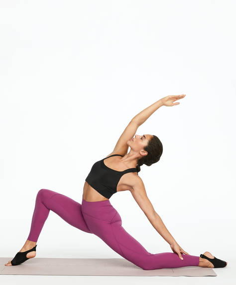 Leggings gainant violet
