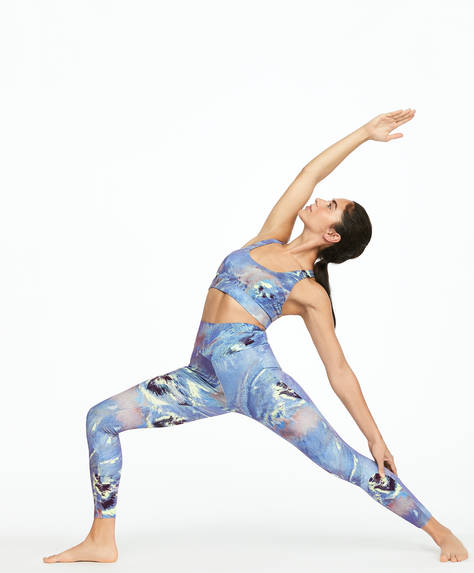 Printed compression tape leggings