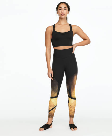 Golden scorpio print shapewear leggings