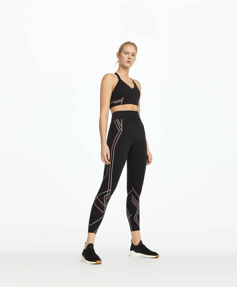 Line compression leggings