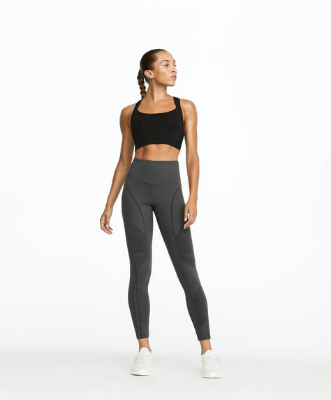 Grå leggings, shapewear og med kompression