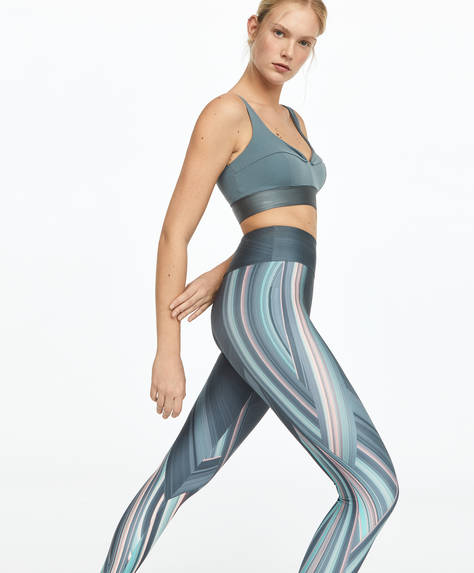 Line print leggings