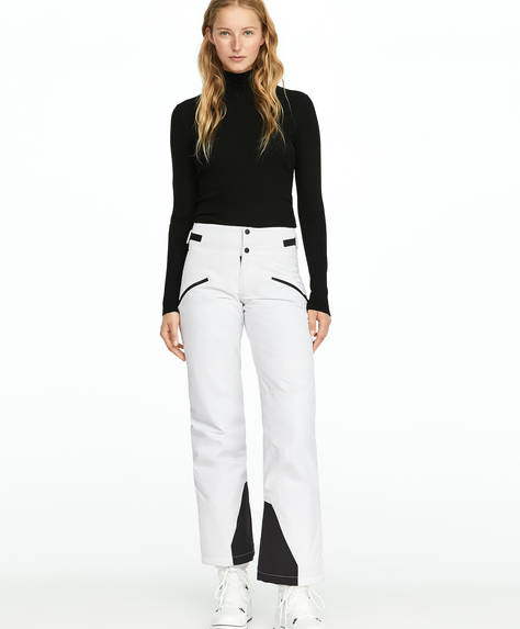 White SKI trousers