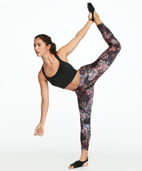 Leggings com estampado de camaleão
