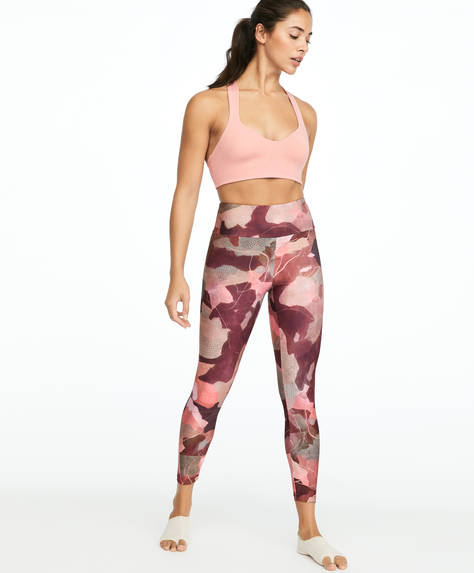 Legging met roze camouflageprint