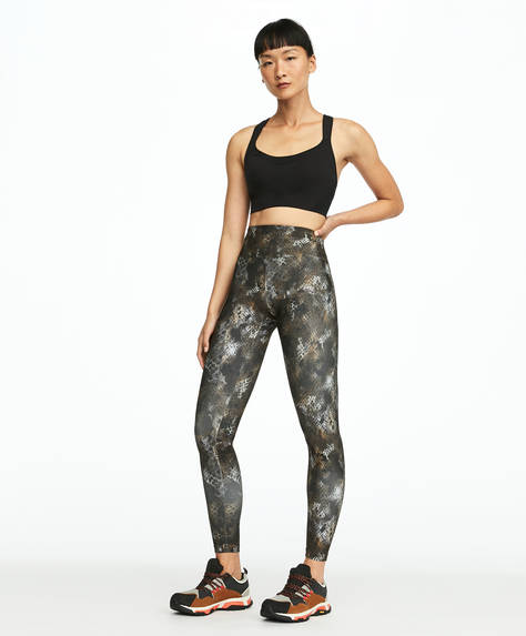 Leggings mit Schlangenhautprint