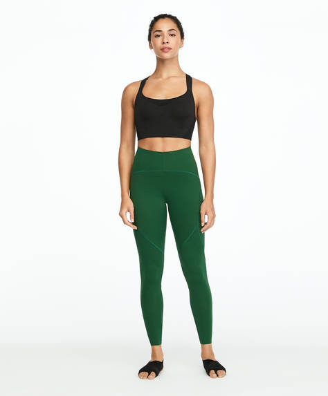 Green compression leggings