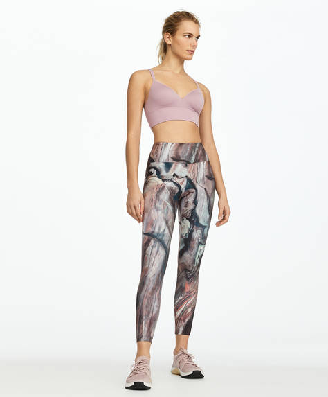Leggings con stampa marmo