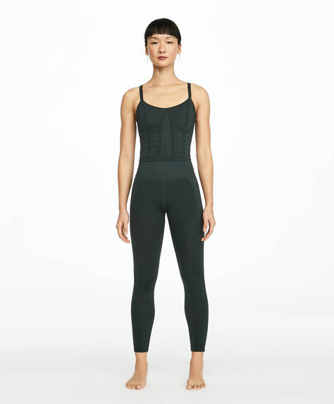 Leggings seamless shaping verde