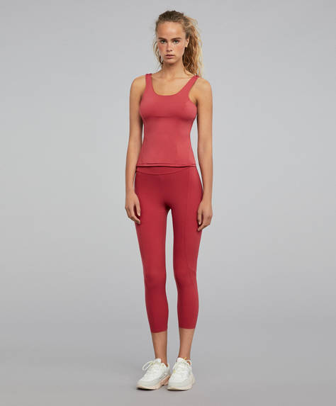 Raspberry shapewear leggings