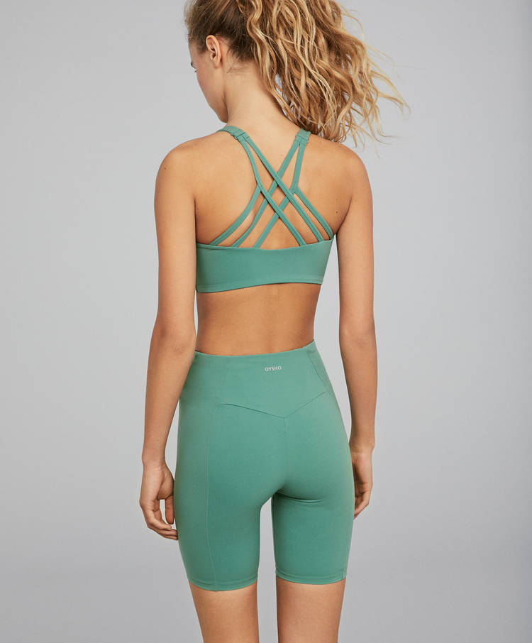 05f908b5f8 Green cycling shorts - New this week - New In - OYSHO SPORT