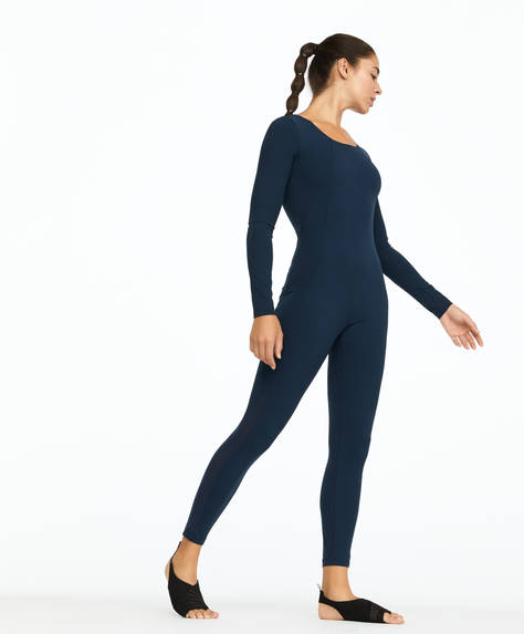 Light skin touch long-sleeved jumpsuit
