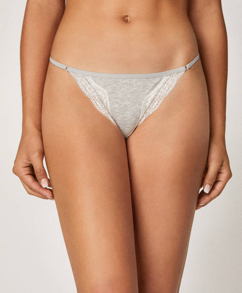 3 lace detail Brazilian briefs