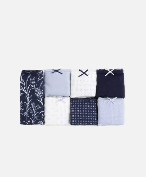 7 adet mavi klasik külot