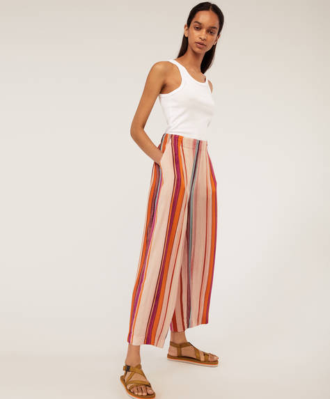 Watercolour stripe trousers