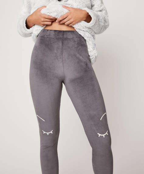 Plain fleece leggings