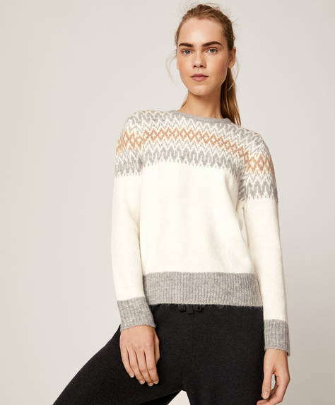 Pullover mit Jacquard-Detail