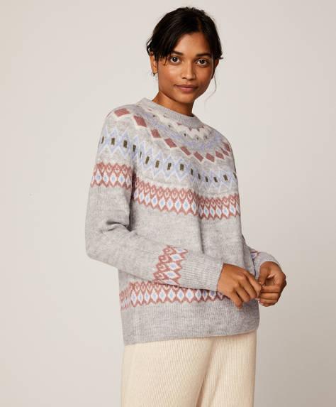 Geometric jacquard jumper