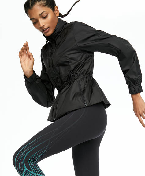 Veste de running repliable